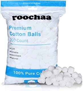 Premium Large 200 Cotton Balls, 100% Natural Cotton, Soft and Absorbent, Hypoallergenic, Face and Beauty Care, Home Care, ...