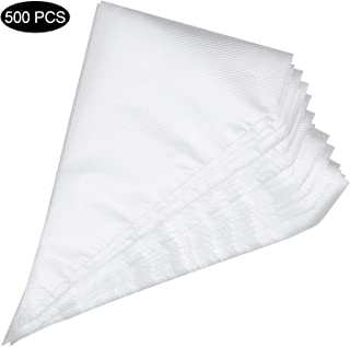 500 Pcs Thick Pastry Piping Bags, 10.6 inch Disposable Cream Bag Baking Icing Pastry Cookies Cupcake Decorating Bags