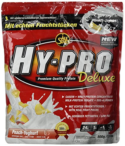 All Stars Hy-Pro Deluxe Protein, Pfirsich-Joghurt, 1er Pack (1 x 500 g)