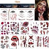 Halloween tatuajes temporales,tatuaje de cicatriz de Hallowe
