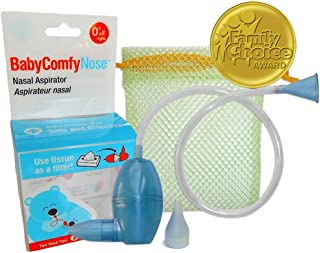 BabyComfy Nasal Aspirator - The Snotsucker - Hygienically & Safely Removes Baby's Nasal Mucus (Blue)