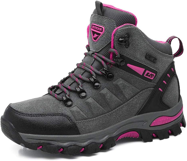 PEALAND Womens Mid Outdoor Waterproof Hiking Boots-Winter Non Slip Trekking Hiking shoes