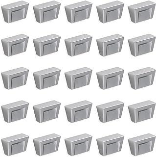 Emuca 9161764 Bouton pour meuble - zamak - chromé mat - Set de 25 pièces