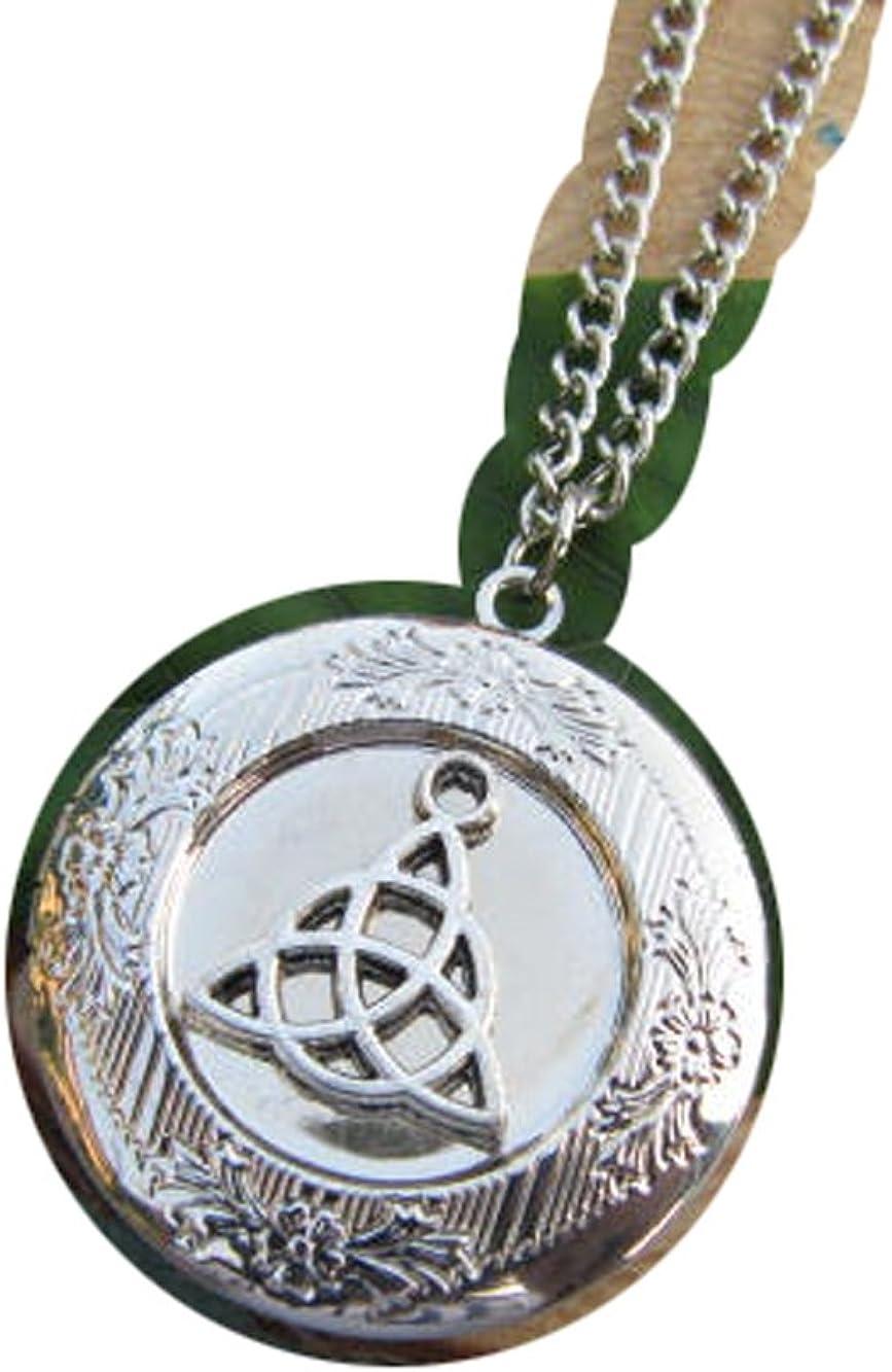 2Pcs Celtic Trinity Knot Locket, Vintage Locket Necklace, Secret Locket, Antique Locket, Gift for Her, Irish Locket,