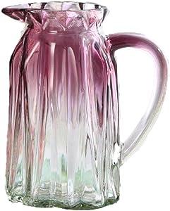 Fairye Le Vase en Verre Transparent dégradé est Facile à déplacer pour la décoration de la Maison et du Bureau sans Fleurs, Rose