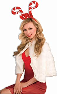Forum Novelties 65437 Candy Cane Headband, Red, As Shown, One Size