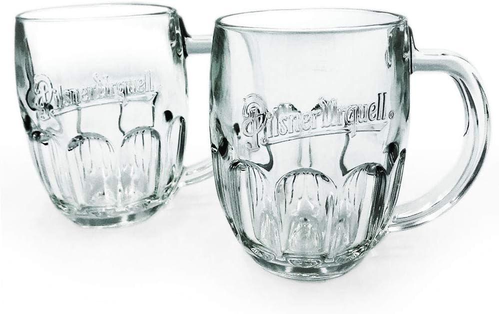 WEISSE Set of 2 Swirl Beer Glass Tall Weismaner Puls-Brou German