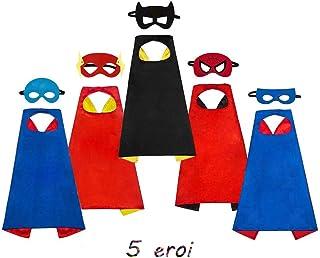0f173b947add SAYOMOK Costumi da Supereroi per Bambini-Regali di compleanno - Costumi  Carnevale Mantelli e Maschere