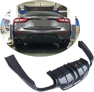 MCARCAR KIT Rear Diffuser fits Maserati Quattroporte QP Base Sedan 2017 2018 2019 Factory Outlet Carbon Fiber CF Lower Bumper Lip Spoiler Body Kit