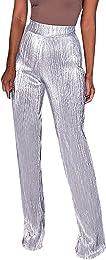 Pantalon Femme à Pinces Elastique A La Taille Haut