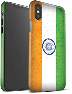 Matte Phone Case for Apple iPhone Xs Max Asian Flag India/Indian Design Matt Hard Snap On Cover