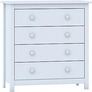 Dogar Moblit Cómoda, Madera, Blanco Translucido, 78.5x75x35 cm