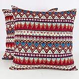 Miwaimao Funda de almohada de algodón y lino con condones bohemios Hotel Inn