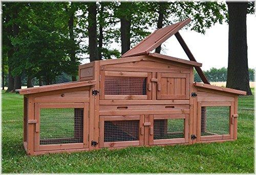 Zooprimus Kaninchenstall 47 Hasenkäfig – KÖNIGSSTALL – Stall für Außenbereich (für Kleintiere: Hasen, Kaninchen, Meerschweinchen usw.) - 6