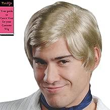 Freddie Mystery Color Blonde - Enigma Wigs Mens Jones Cartoon Prinze Short 70s Hollywood Bundle MaxWigs Costume Wig Care Guide