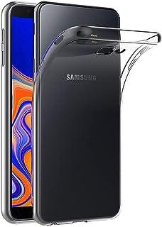 Case for Samsung Galaxy J4 Plus (6 inch) MaiJin Soft TPU Rubber Gel Bumper Transparent Back Cover