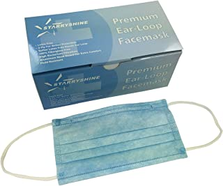 3-Ply Premium Dental Surgical Medical Disposable Earloop Face Masks (FDA Approved) (600 PCS/12 Boxes, Blue)