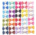 YAKA 40pcs/(20pairs) Hot Cute Small Dog Hair Bows Topknot Small Bowknot Rubber Bands Pet Grooming Products Pet Hair Bows Hair Accessories 20 Colors
