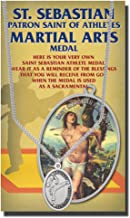 WJH Martial Arts Saint Sebastian Pewter Medal on 24 Continuous Chain, Double-Sided Medal