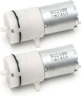 2x DC 3V-6V 5V 370 Motor Micro Mini Air Pump Vacuum For Aquarium Tank Oxygen