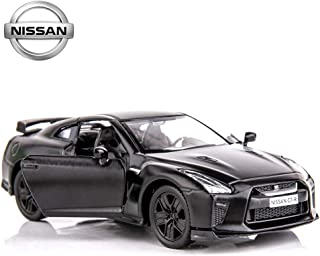 BDTCTK 1/36 Scale Nissan GTR R35 Car Model Toy Zinc Alloy Die-Cast Pull Back Vehicles Kid Toys for 2 3 4 Year Old Boy Girl Gift (Black)