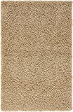 Unique Loom Solo Solid Shag Collection Area Modern Plush Rug Lush & Soft, 3' 3 x 5' 3, Taupe
