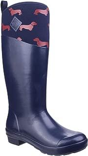 Muck Boots Womens Tremont Emily Bond Print Wellington Navy/Red Dogs Size UK 3 EU 36