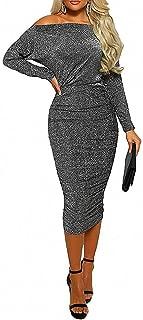 Best off the shoulder long sleeve sheath dress Reviews