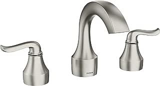 Moen 84302SRN Hamden Two-Handle 8-Inch Widespread Bathroom Faucet, Valve Included, Spot Resist Brushed Nickel