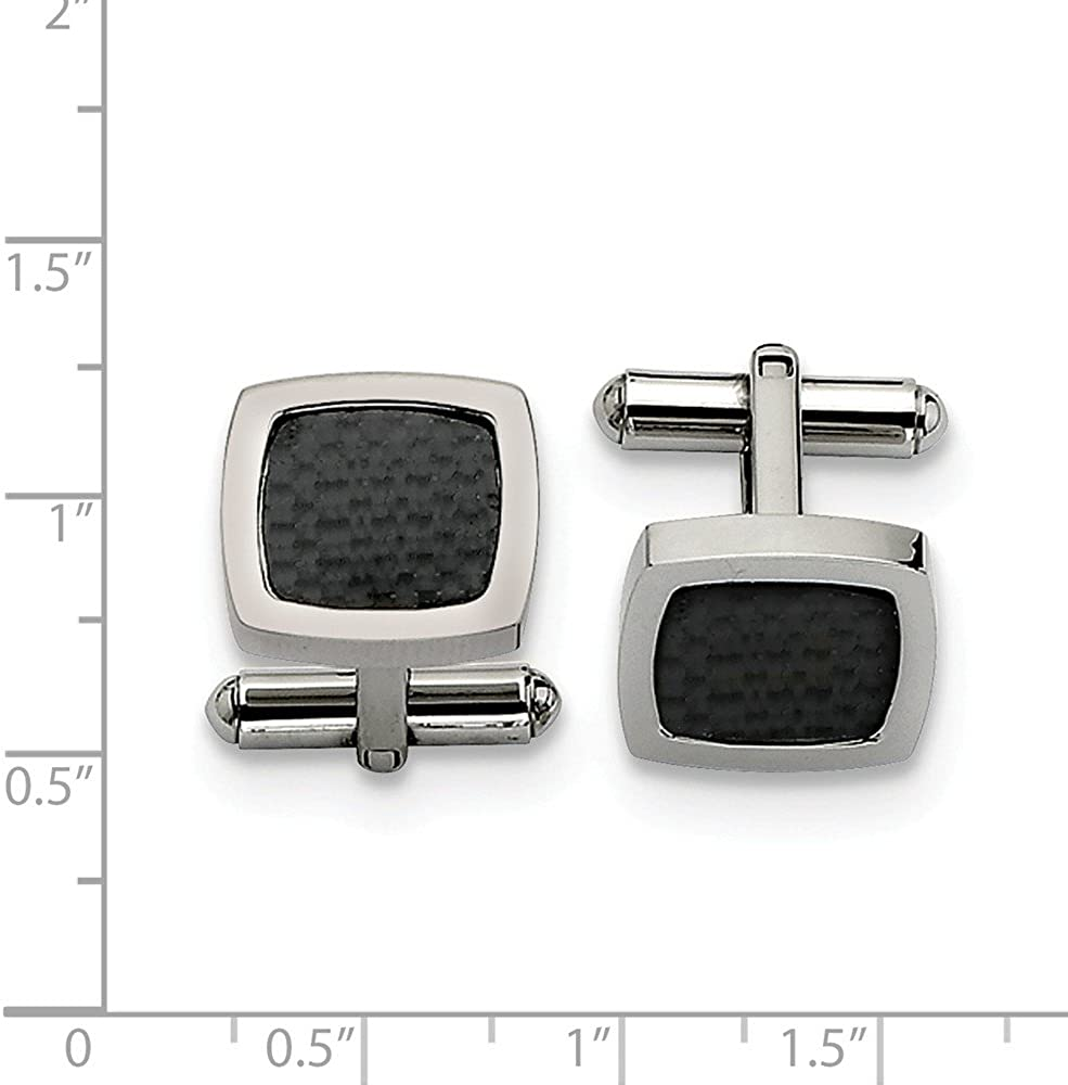 Chisel Stainless Steel Carbon Fiber Cuff Links SRC181