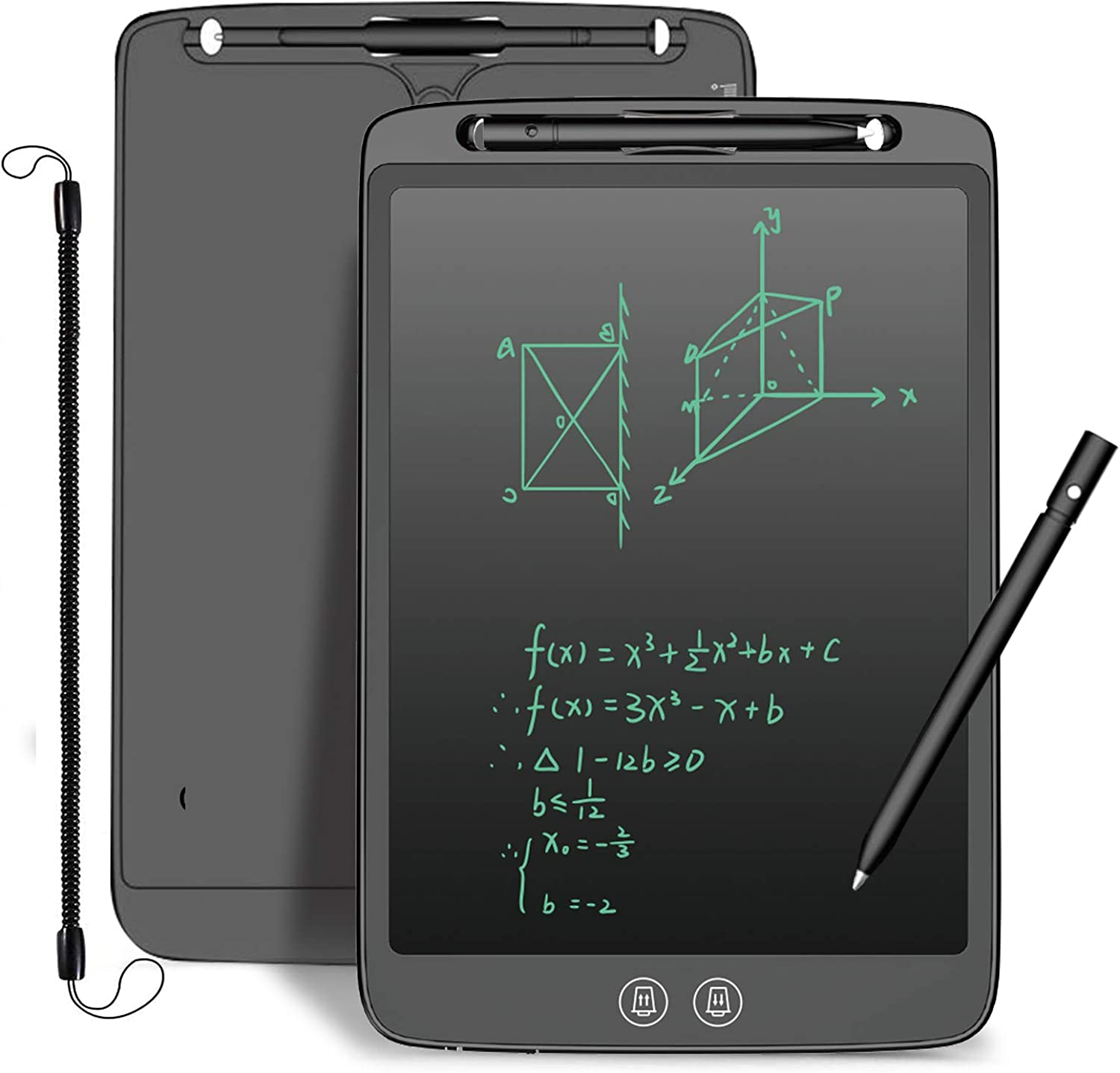 LCD Writing Tablet,YUSHANG12InchThe Newest Partition Erase LCD Drawing Board,Portable Electronic Writing Doard,Adult LCD Tablet Writing,for Age3+Years,Adult Tutoring Children to Study,Writing,Notes