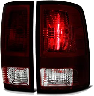 VIPMOTOZ Factory Style Tail Light Lamp For 2009-2018 Dodge RAM 1500 2500 3500 - [Factory Incandescent Model] - Smoke Red Lens, Driver & Passenger Side