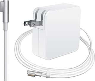 MacBook Pro Charger by LED: 60W Replacement Power Adapter for Apple MacBook Pro Laptop – Compact Charger with L-Tip Shaped Magnetic Connector, Foldable Plug & Long Cable – for Models Up to 2012