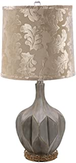 Octagonal Fluted Lamp w Jeweled Base 28 Inch by Mark Roberts 75-60504