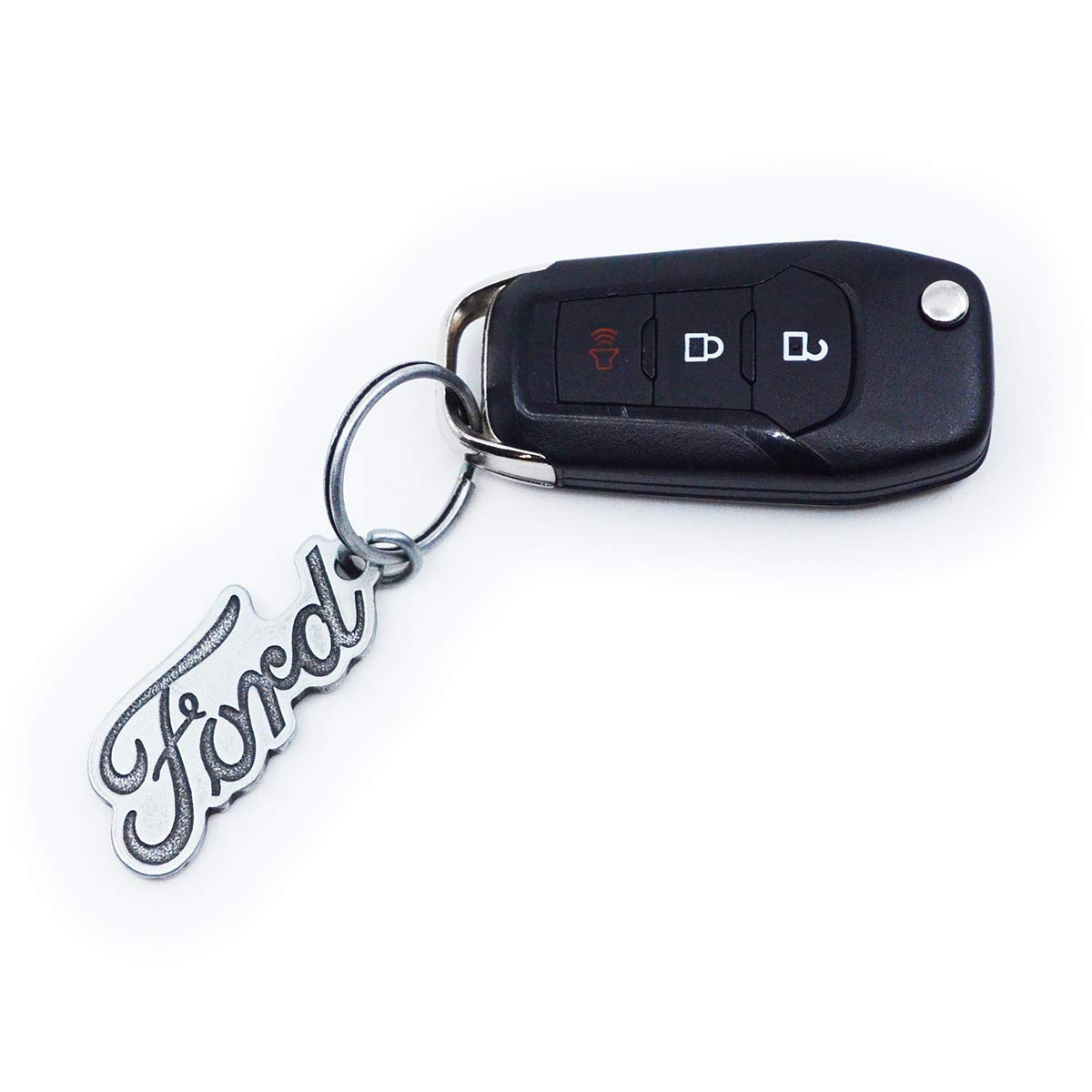 Black Zinc Alloy Heavy Duty Durable Car Key Chains for Men and Women TECHSON Key Chain with Clip Hook and 2 Extra Detachable Rings