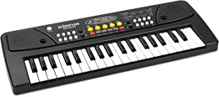 aPerfectLife Chargable Kids Piano 37 Keys Multi-Function Charging Electronic Kids Keyboard Piano for Kids with Microphone (Black)