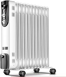 NAUY@ Radiador Lleno Aceite mecánico Blanco, termóstato eléctrico portátil del Sitio del Calentador, Ahorro de energía 2000W (11 Placas de calefacción) Riscaldatori di spazio