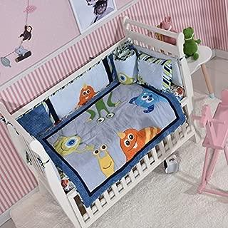 Blue Sea Monster Crib Bedding Quilt Only, Baby Bedding Girl Boy Toddler, Nursery Quilt Unisex