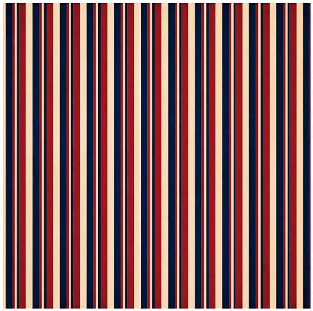 Reminisce Party In the USA 12 by 12-Inch Double Sided Scrapbook Paper, American Stripe