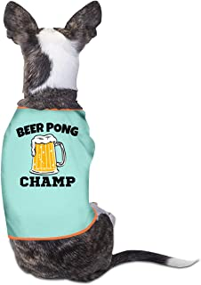 b8922f6f8ffd Nicokee Puppy Dogs Shirts Costume Beer Pong Champ Pets Clothing Warm Vest T- Shirt