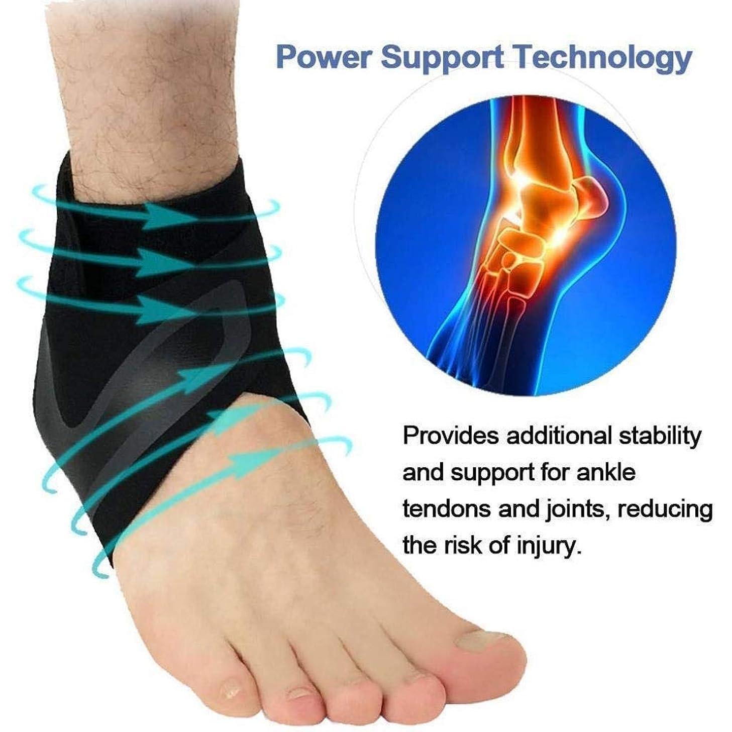 について投げる困った足首サポート、調節可能な足首ブレース多目的および通気性圧縮-スポーツ、ランニング、ウォーキング、関節痛、捻rain用の足首ラップ (Color : As Picture, Size : X-Large)