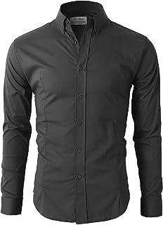 Lyon Becker Men's Casual Formal Button Down Shirt Slim Fit Long Sleeve PS24