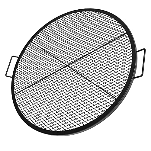 Stanbroil Heavy Duty X-Marks Fire Pit Cooking Grill Grates with Support X Wire - Outdoor Round BBQ Campfire Grill Grid - Camping Cookware, 36-Inch