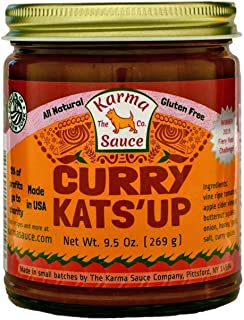Gourmet Curry Kats'up | Gourmet Ketchup Infused With Our Premium Curry Blend | No Preservatives, Vegan, No Concentrate, Sugar Free, Paleo / Keto Friendly | Made In Finger Lakes, USA | 9 fl. oz jar