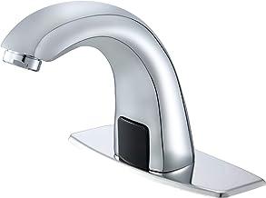 Llave de lavabo de baño con sensor automático sin contacto con placa de agujero, grifos de latón, manos libres, llave de a...