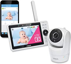 "VTech VM901 WiFi Video Baby Monitor with Free Live Remote Access, 1080p Full HD Camera, 5"" Screen, Pan Tilt Zoom, HD Night Vision, 2-Way Audio Talk, Motion & Temperature Alert, Work with iOS, Android"
