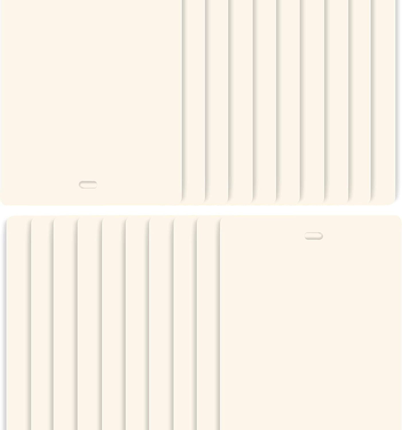 DALIX New life mart PVC Vertical Blind Replacement Curved Smooth Slats Ivory 7