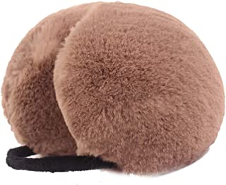 Topcoco Cute Imitation Rabbit Fur Ear Warmer Foldable Warm Winter Earmuffs For Women