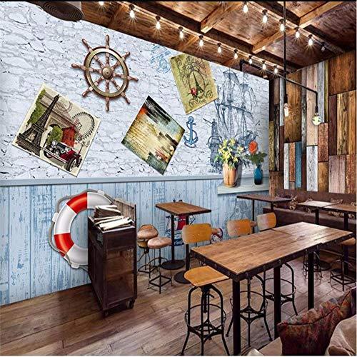 Ytdzsw Segeln Mittelmeer Rudder Swim Ring Europäischen Stil 3D Hintergrund Customized Große Wandbild Tapete-250X175Cm