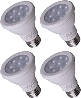 MARCHTOP 4000K Bright White, Dimmable PAR20 LED Bulb 8W, Spot Light Type, Medium Base (E26), CRI85+, E26 Base, 72 Hours Tested, Only for Indoor, Spotlight, 38° 4PACK